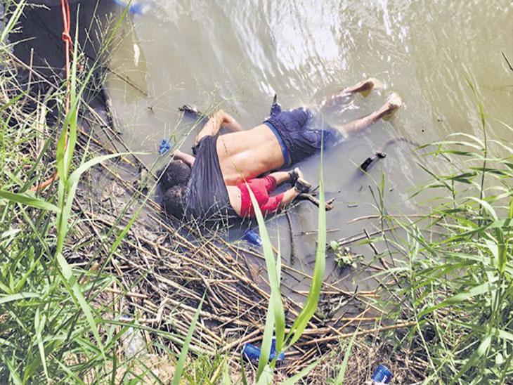 २३ महिन्यांच्या चिमुकलीला चांगले आयुष्य, घर मिळावे म्हणून कमाईसाठी जात होते वडील; पण नदी ओलांडताना बाप-लेकीचा मृत्यू|विदेश,International - Divya Marathi