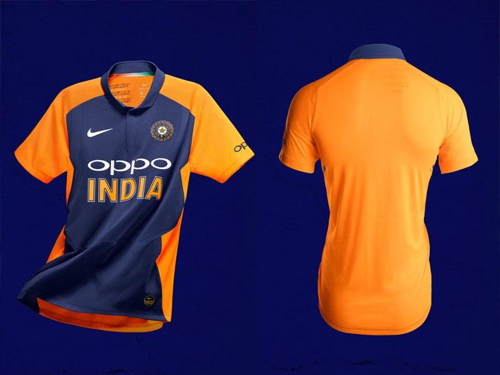 अखेर भारतीय संघ भगव्या रंगात अवतरणार, बीसीसीआयने ट्विटरवरून नव्या जर्सीचा फोटो शेअर केला क्रिकेट,Cricket - Divya Marathi