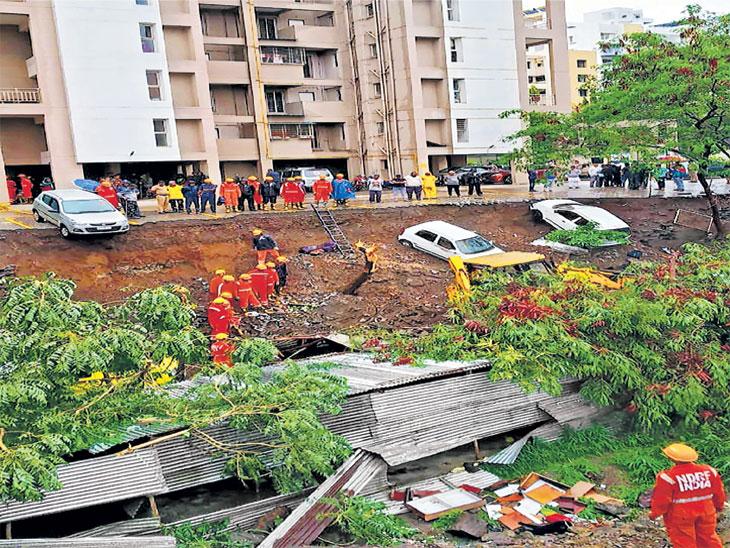 काेंढव्यातील दुर्घटना : मनुष्यवध नव्हे, अॅक्ट ऑफ गाॅड : बचाव पक्ष;  हा तर बिल्डरांचा निष्काळजीपणाच : पाेलिस पुणे,Pune - Divya Marathi