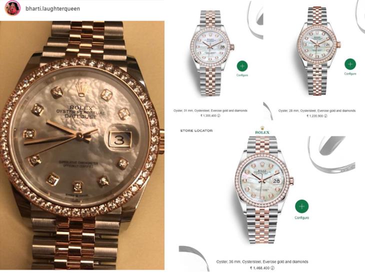 भारती सिंहला 33 व्या वाढदिवसासाठी पती हर्षने लग्झरी घड्याळ केले गिफ्ट, 15 लाख रुपये असू शकते किंमत| - Divya Marathi