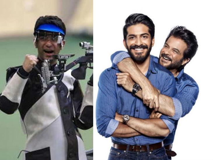 अनिल कपूर आणि मुलगा हर्षवर्धन करत आहेत अभिनव बिंद्राच्या बायोपिकसाठी तयारी,  वर्ल्ड चॅम्पियन शूटरच्या फॅमिलीची घेतली भेट| - Divya Marathi