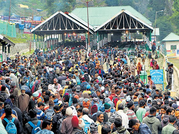 अमरनाथच्या खडतर मार्गावर आयटीबीपीची ढाल, दरड काेसळण्याच्या घटनांपासून अनेकांचा बचाव|देश,National - Divya Marathi
