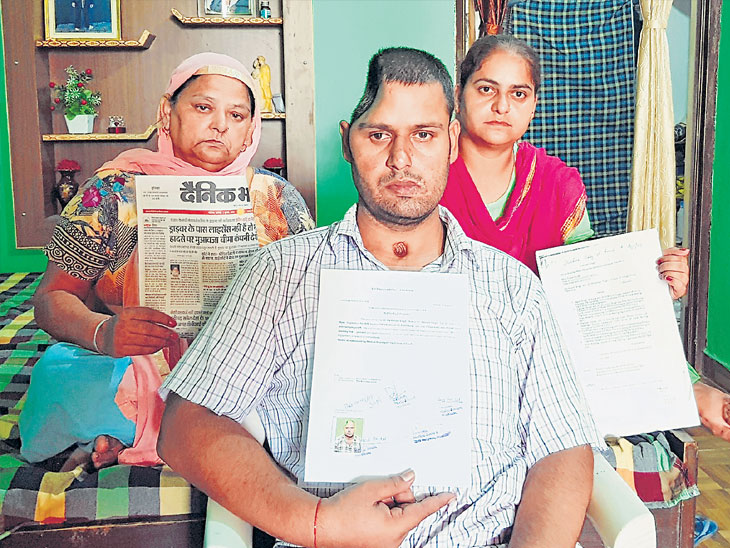 १८ शस्त्रक्रिया, डोके चेपलेले, गळ्यावर जखम, डावी बाजू निकामी तरीही हिंमत कायम, म्हटले, आधी ओझे होतो..आता साथ देईन|देश,National - Divya Marathi