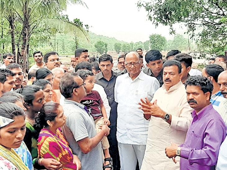 तिवरे धरण दुर्घटनेतील मृतांच्या कुटुंबांना राष्ट्रवादीकडून प्रत्येकी १ लाखाची मदत|मुंबई,Mumbai - Divya Marathi