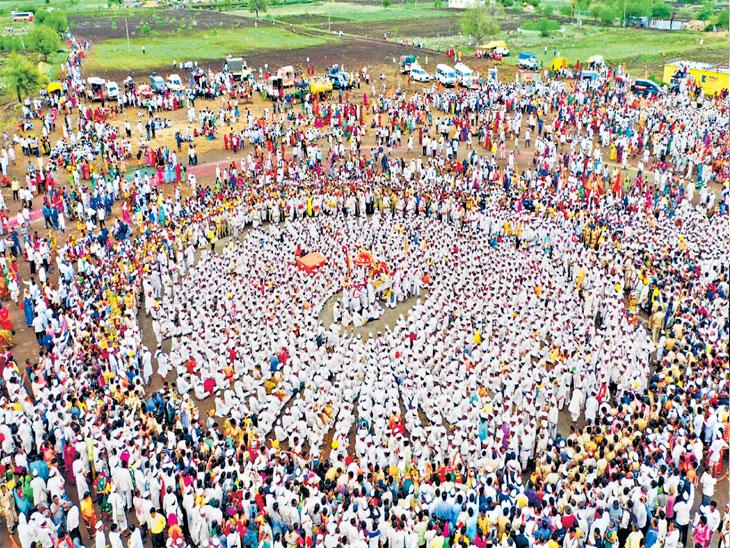 पंढरीत भक्तांचा मेळा जमू लागला, रिंगणाने फेडले डोळ्याचे पारणे|सोलापूर,Solapur - Divya Marathi