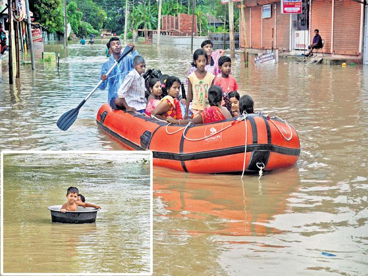 नेपाळच्या पुरात ५० लोकांचा मृत्यू, बिहारच्या १० जिल्ह्यांत पूर, एनडीआरएफच्या १२ तुकड्या तैनात|देश,National - Divya Marathi
