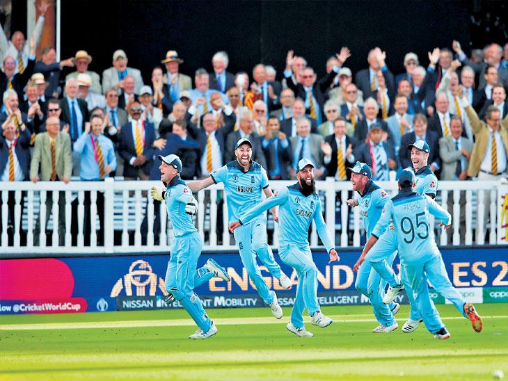 इंग्लंड पहिल्यांदाच विश्वविजेता, वर्ल्डकपच्या इतिहासात प्रथमच फायनल व सुपर ओव्हर टाय स्पोर्ट्स,Sports - Divya Marathi