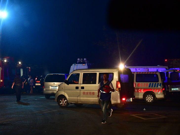 चीनच्या यीमा शहरात गॅस प्लँटमध्ये स्फोट; 10 जणांचा मृत्यू, 3 किमी दूरवरील घराच्या काचा फुटल्या विदेश,International - Divya Marathi
