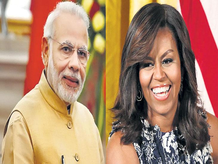 मोदी जगात पसंतीच्या पुरुषांत सहावे,  महिलांत मिशेल ओबामा पहिल्या क्रमांकावर|देश,National - Divya Marathi