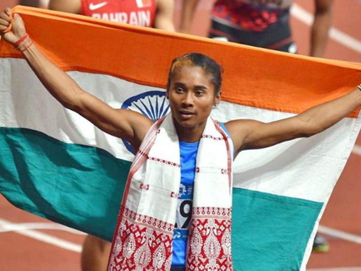 भारताची सुवर्णकन्या; हिमा दासने अवघ्या 20 दिवसांत केली 5 व्या सुवर्ण पदकाची कमाई, 400 मीटर हर्डल्समध्ये जाबिरलाही सुवर्ण|स्पोर्ट्स,Sports - Divya Marathi