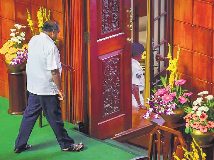 नाट्य संपले, सरकार पडले : कर्नाटकात 6 मतांनी गडगडले काँग्रेस-जेडीएस सरकार|देश,National - Divya Marathi