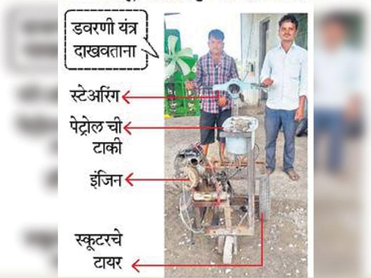 जुन्या स्कुटरपासून बनवण्यात आले टिकावू डवरणी यंत्र; अल्पभूधारकांसाठी फायद्याचे|अकोला,Akola - Divya Marathi