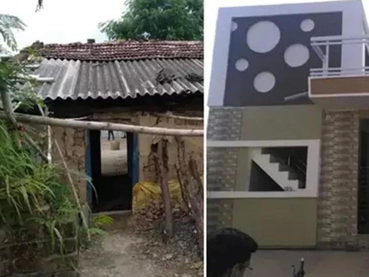 देशासाठी जवानाने दिले बलिदान, गावातील तरुणांनी पैसे गोळा करुन झोपडीत राहणाऱ्या शहीदाच्या पत्नीला बांधून दिले नवे घर|देश,National - Divya Marathi