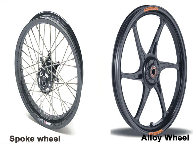 टू-व्हीलरमधील स्पोक व्हील्स की अलॉय व्हील्स.....हे आहेत फायदे-तोटे|ऑटो,Auto - Divya Marathi