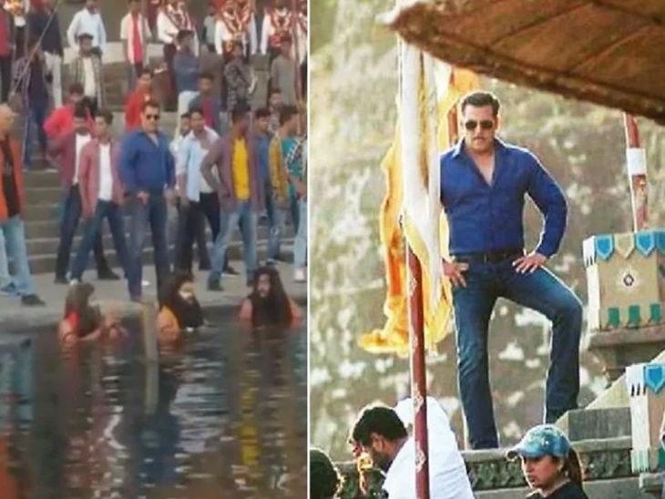 'दबंग 3' च्या शूटिंगचे फोटोज लीक झाल्याने चिडला सलमान, टीमला सेटच्या भिंती उंचावण्याचे दिले आदेश| - Divya Marathi