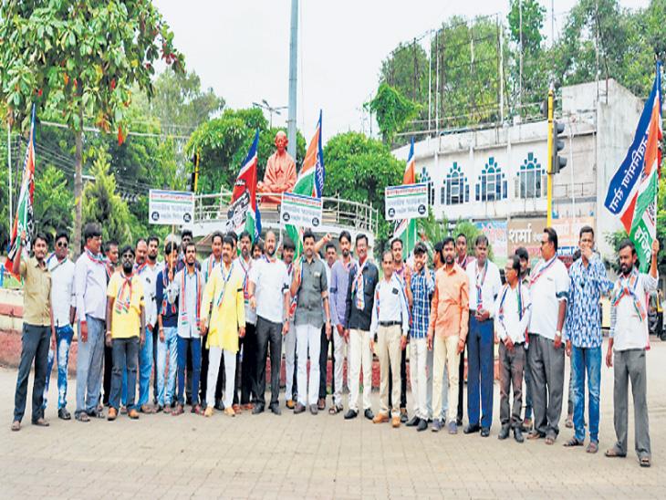 राज ठाकरेंच्या समर्थनार्थ मनसेची निदर्शने|देश,National - Divya Marathi