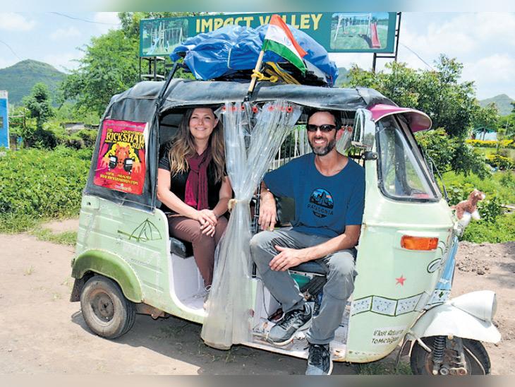 'वृक्ष वाचवा' संदेश घेऊन 200 परदेशी पर्यटकांचा 83 रिक्षांनी भारतात प्रवास|औरंगाबाद,Aurangabad - Divya Marathi