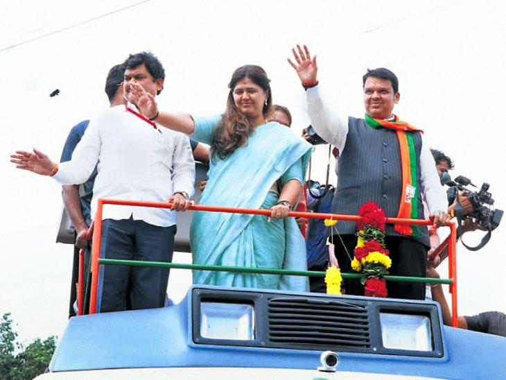 MahaElection : पुढील पाच वर्षांत जिल्ह्यासह मराठवाडा दुष्काळमुक्त करू; मुख्यमंत्री फडणवीस यांची ग्वाही| - Divya Marathi