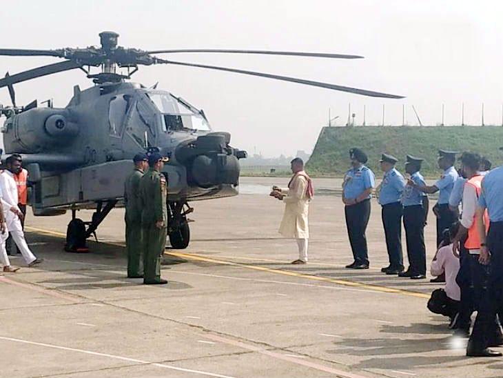 भारतीय हवाईदलात 8 अत्याधुनिक 'अपाचे' हेलिकॉप्टर्सचा समावेश; पठाणकोट हवाईतळावर केले तैनात देश,National - Divya Marathi
