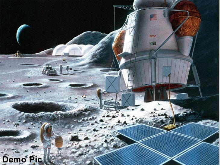 चांद्रयान-२ उतरत असलेल्या ठिकाणी २०२४ मध्ये नासा मानव पाठवणार| - Divya Marathi