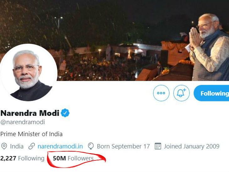 5 कोटी ट्विटर फॉलोअरसोबत टॉप-20 मध्ये पोहचणारे नरेंद्र मोदी एकटे भारतीय, 10.8 कोटींसोबत बराक ओबामा पहिल्या नंबरवर| - Divya Marathi