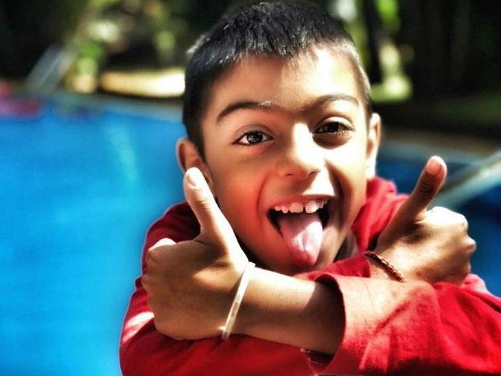 बर्थडे / 9 वर्षांचा झाला अजय-काजोलचा मुलगा युग| - Divya Marathi