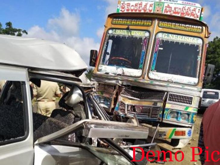 ट्रकचालकाने रागाच्या भरात ओम्नीचालकास चिरडले|देश,National - Divya Marathi