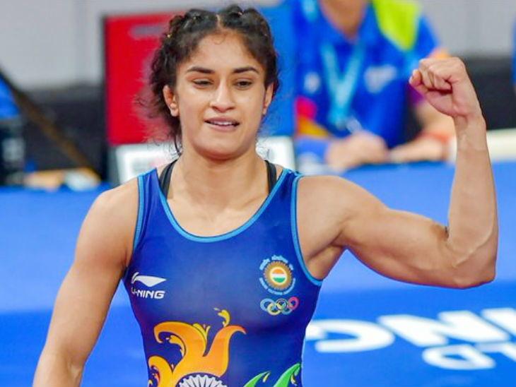 विनेश फोगाटला मिळाले ऑलिंपिकचे तिकीट, वर्ल्ड चॅम्पियनशिपमध्ये ब्रॉन्ज मेडलपासून एक पाऊल दूर  - Divya Marathi
