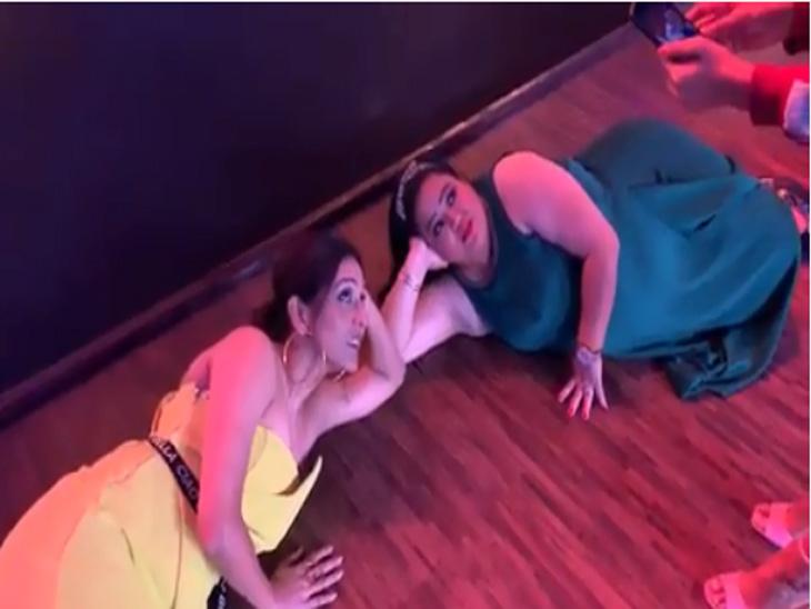 नीती मोहनसोबत व्हिडिओ शूट करत होती कॉमेडियन भारती सिंह, मध्येच बोलली असे काही की सर्वांनाच हसू आवरणे झाले कठीण|टीव्ही,TV - Divya Marathi