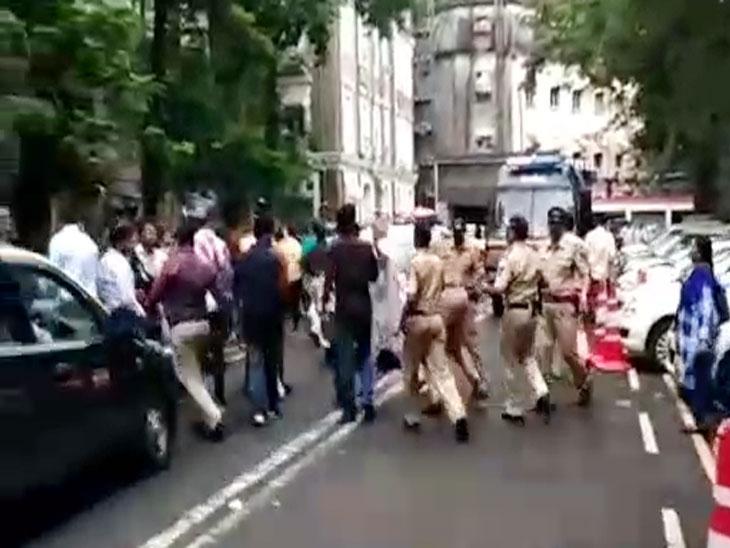 मुंबईत ईडीच्या कार्यालयावर राष्ट्रवादीची निदर्शने, पोलिसांकडून कार्यकर्त्यांना धरपकड|मुंबई,Mumbai - Divya Marathi