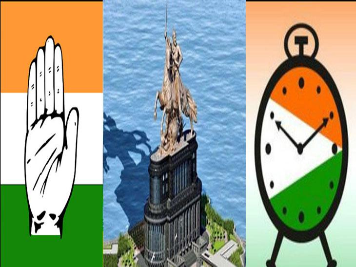 शिवस्मारकाच्या कामात १ हजार कोटींचा भ्रष्टाचार; शिवस्मारक उभारण्याचा उद्देश हा पैसे खाण्यासाठी असल्याचा काँग्रेस आणि राष्ट्रवादीचा पुन्हा आरोप|मुंबई,Mumbai - Divya Marathi