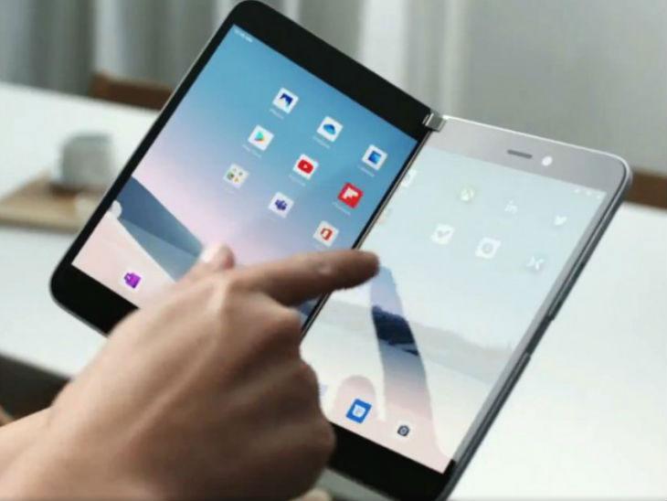 मायक्रोसॉफ्टचा पहिला फोल्डेबल स्मार्टफोन 'सर्फेस डुओ' लॉन्च; सॅमसंग गॅलक्सी फोल्डला देऊ शकतो टक्कर| - Divya Marathi