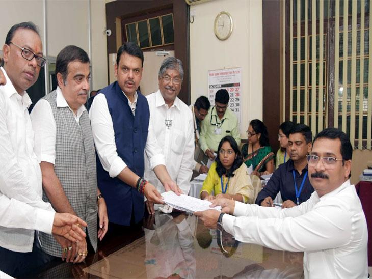 नागपुरमधून मुख्यमंत्र्यांनी तर कामठीमधून बावनकुळे यांच्या पत्नीने दाखल केला उमेदवारी अर्ज|नागपूर,Nagpur - Divya Marathi