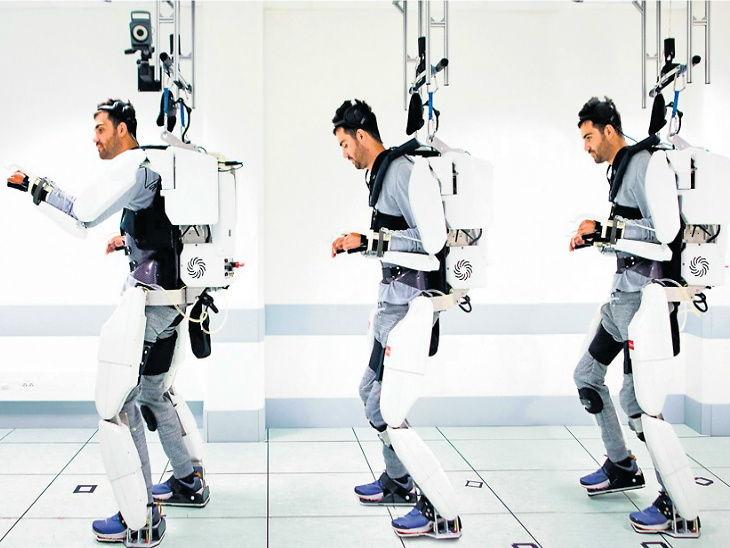व्यक्तीचा मेंदू वाचणारा एक्जोस्केलेटन, याच्या मदतीने अर्धांगवायू झालेल्या व्यक्तीलाही चालता येईल| - Divya Marathi