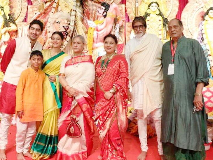 देवीच्या दर्शनासाठी दुर्गा पूजेमध्ये पोहोचले अमिताभ बच्चन, काजोल, राणी, त्यांची फॅमिलीदेखील दिसली|देश,National - Divya Marathi