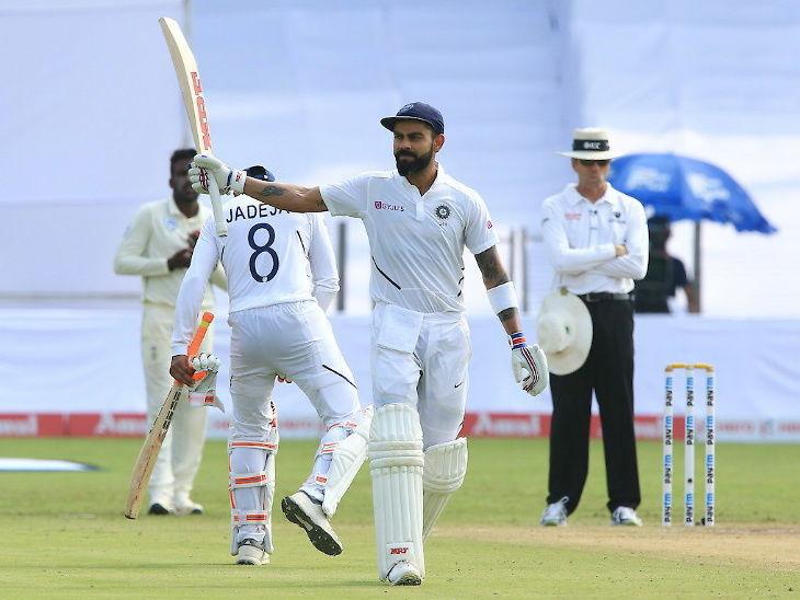 कोहलीने 7 वे द्विशतक मारून टेस्टमध्ये 7000 रन पूर्ण केले, सचिन-सेहवागसहित 6 खेळाडूंना सोडले मागे| - Divya Marathi