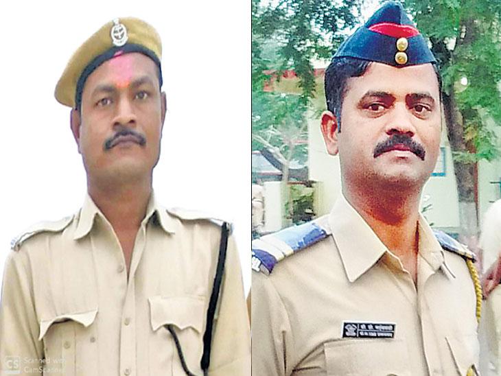 कंटेनरच्या धडकेत एका पोलिस कर्मचाऱ्यासह गृहरक्षक दलाचा जवान ठार; एक गंभीर जखमी|औरंगाबाद,Aurangabad - Divya Marathi