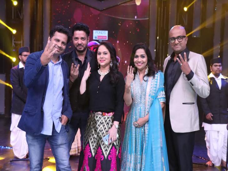 'युवा सिंगर'च्या सेटवर 'राधा' फेम स्वप्निल आणि गाण्यातील 'अप्सरा' बेलाची हजेरी....|टीव्ही,TV - Divya Marathi