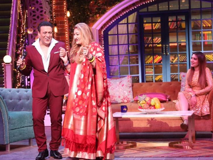पत्नीसोबत रोमँटिक अंदाजात दिसला गोविंदा, भांगात कुंकू भरतानाचे फोटो आलेत समोर|टीव्ही,TV - Divya Marathi