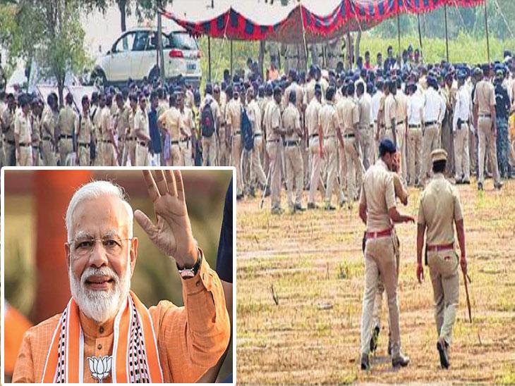 जळगावात आज पंतप्रधान माेदींची सभा; ५० हजार आसनक्षमतेचा सभामंडप, ड्राेन उडवण्यासाठी बंदी|जळगाव,Jalgaon - Divya Marathi