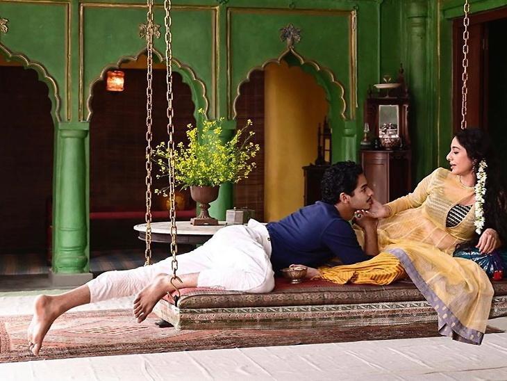 'अ सूटेबल बॉय'च्या फर्स्ट लूकमध्ये ईशान खट्टर आणि तब्बू. फोटो क्रेडिट : इन्स्टाग्राम - Divya Marathi