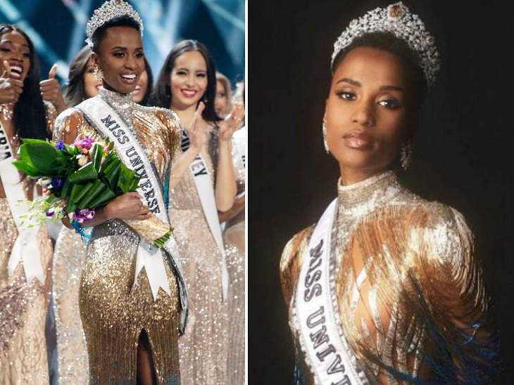 अटलांटा येथे पार पडलेल्या 68 व्या 'मिस युनिव्हर्स' स्पर्धेत दक्षिण आफ्रिकेच्या जोजिबिनी टूंजी (Zozibini Tunzi) हिने 'मिस युनिव्हर्स'च्या किताबावर आपले नाव कोरले. - Divya Marathi