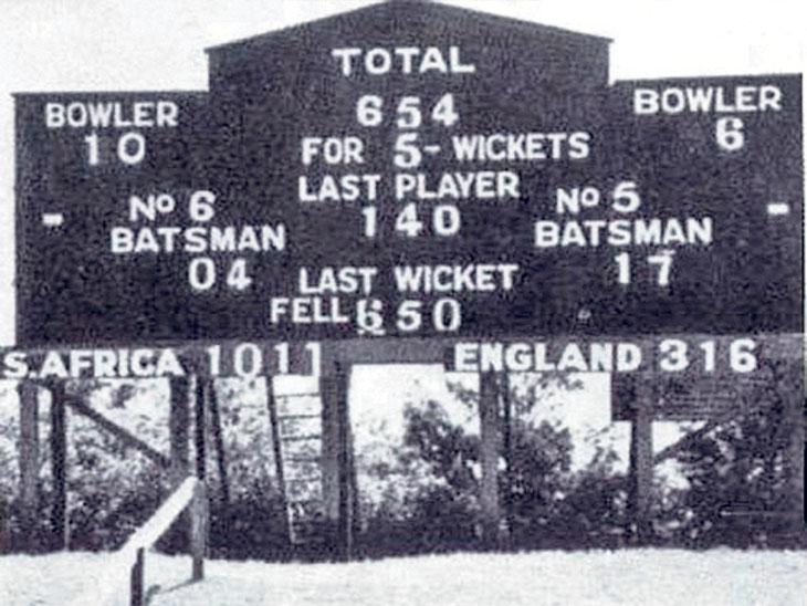 कसाेटी  इतिहासात १९३९ मध्ये सर्वात लांब टेस्ट आफ्रिका आणि इंग्लंड संघांची ठरली. - Divya Marathi