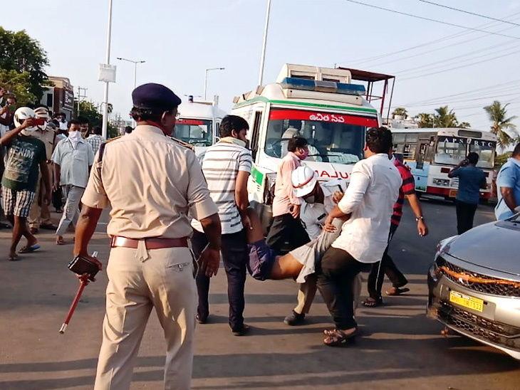 पोलिस आणि बचाव दलाला लोक रस्त्यावर पडलेले आढळले