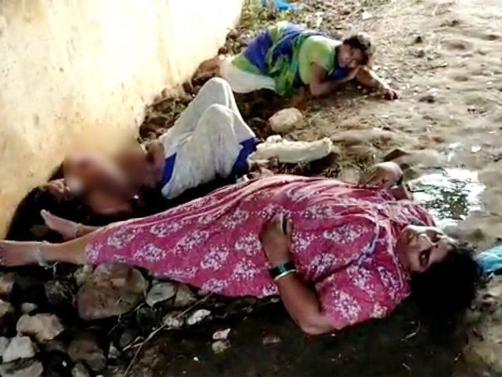 गॅस गळतीमुळे बेशुद्ध पडलेल्या महिला