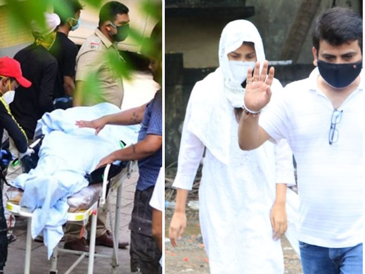 अशी माहिती मिळाली आहे की, रिया चक्रवर्ती 15 जून रोजी सकाळी तीन जणांसह कूपर हॉस्पिटलच्या शवगृहात ठेवलेल्या सुशात सिंह राजपूतच्या पार्थिवाजवळ गेली होती. - Divya Marathi