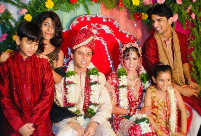 श्वेताच्या लग्नाचा फोटो. यात सुशांत दिसतोय.
