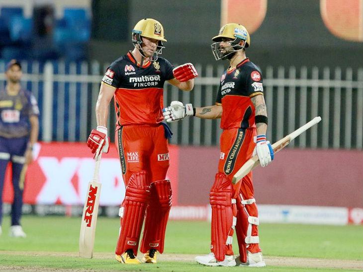 एबी डिव्हिलियर्स आणि विराट कोहली यांच्यात तिसर्या विकेटसाठी 47 चेंडूत 100 धावांची नाबाद भागीदारी झाली. डिव्हिलियर्सने 73 आणि कोहलीने 33 धावा केल्या.