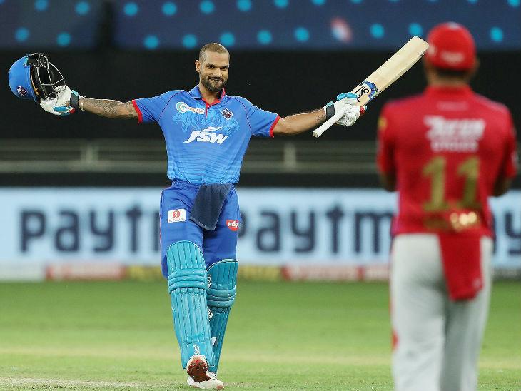 दिल्लीचा सलामीवीर शिखर धवन आयपीएलमध्ये 5 हजार धावा पूर्ण करणारा 5 वा खेळाडू बनला. त्याच्या 106 धावांच्या खेळीमुळे दिल्लीने 165 धावांचे लक्ष्य दिले.