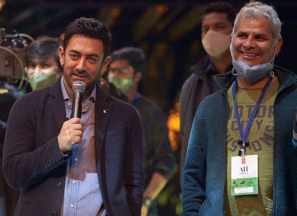 'लगान' चित्रपटात आमिर आणि अमीन यांनी एकत्र काम केले होते.